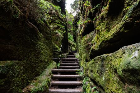 The Swedish holes in Lohmen in the Elbe Sandstone Mountains, Saxon Switzerland
