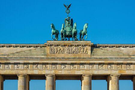 The Quadriga on the Brandenburg Gate in Berlin Archivio Fotografico