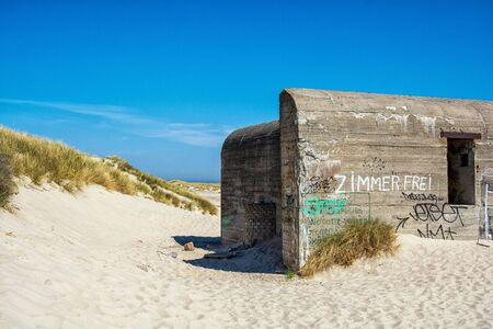 Bunker in Grenen on Skagen beach in Denmark