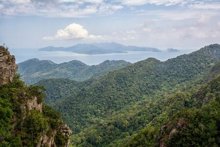 Mountains on Langkawi in Malaysia