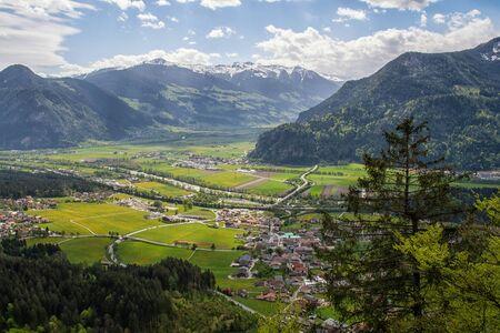 Wiesing in the Lower Inn Valley in the Austrian Alps