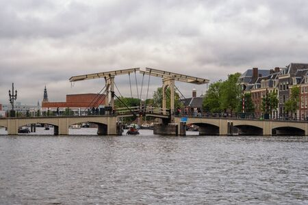 The Magere Brug in Amsterdam Stockfoto