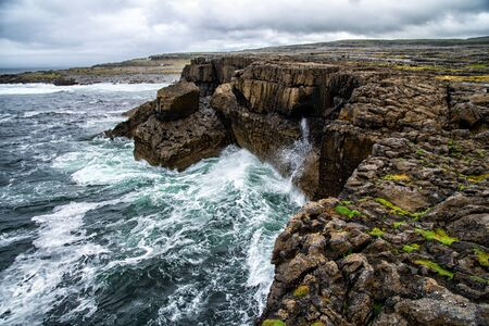 Cliffs at Burren on the Wild Atlantic Way in Ireland