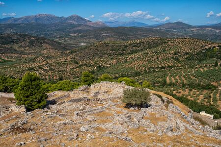View over the archaeological site of Mycenae 版權商用圖片