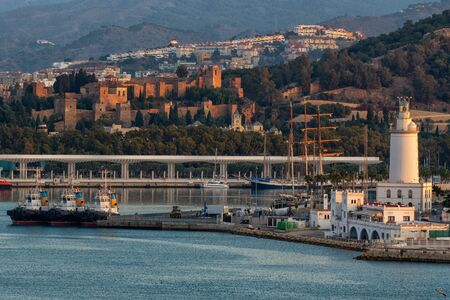 The port of the Spanish city of Malaga 版權商用圖片