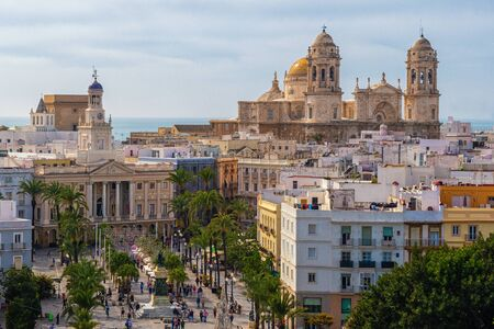 View over the center of Cadiz