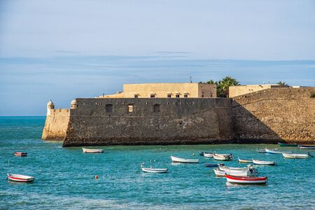 The fortress Castillo de Santa Catalina in Cadiz 版權商用圖片