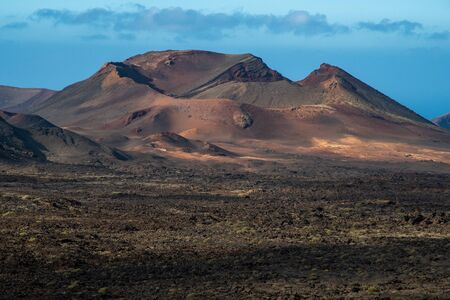 Volcano in Timanfaya National Park in Lanzarote 版權商用圖片
