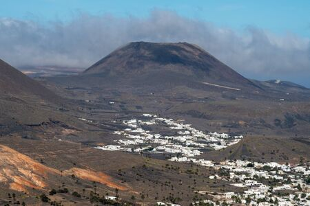 The La Corona volcano in Lanzarote