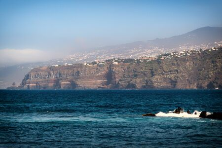 Puerto de la Cruz on the coast of Tenerife 版權商用圖片