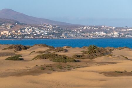 The Maspalomas dunes in Gran Canaria Stock Photo