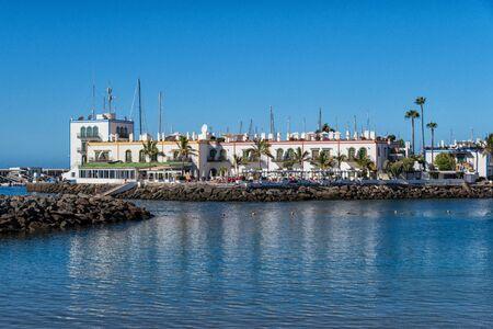 Puerto de Mogán in Gran Canaria 版權商用圖片 - 150413077