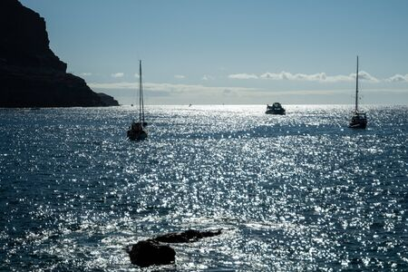 Sailing boats at Puerto de Mogán in Gran Canaria 版權商用圖片