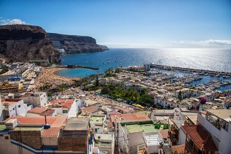 View over Puerto de Mogán in Gran Canaria 版權商用圖片
