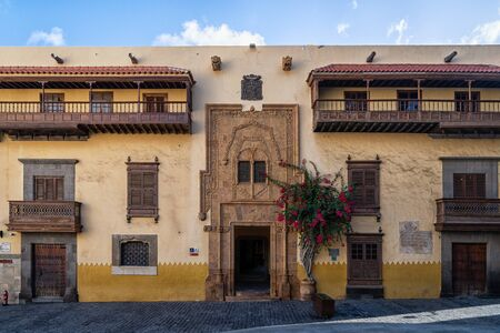 The Columbus house in Las Palmas de Gran Canaria 版權商用圖片