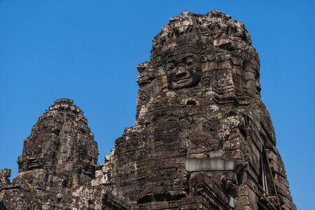 Bayon Temple in Cambodia near Angkor Wat