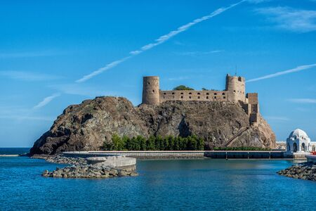 Fortress Al Jalali Fort on the coast of Muscat in Oman
