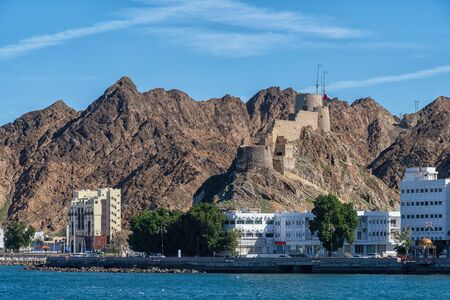 Fortress Mutrah Fort on the coast of Muscat in Oman