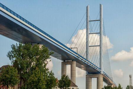 The R?gen Bridge in Stralsund Stock Photo
