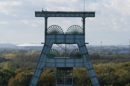 Headframe of the Ewald colliery in Herten in the Ruhr area