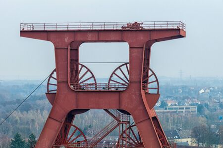 A mine tower for coal mining in the Ruhr area