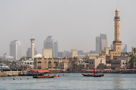 View over the Dubai Creek 版權商用圖片