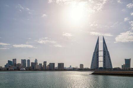 The Manamah skyline in Bahrain