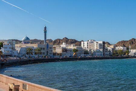 The Mutrah Cornich in Muscat in Oman 版權商用圖片