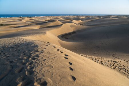 The Maspalomas dunes in Gran Canaria 版權商用圖片