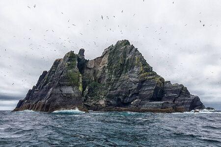 Skellig Michael Island in Ireland