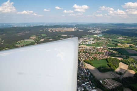 View from the cockpit of a glider