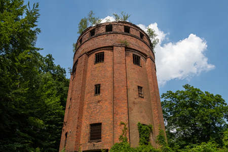 Historic water tower of the dynamite factory near Geesthacht