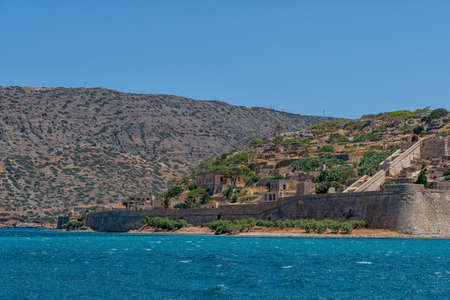 The fortress and leper colony of Spinalonga on Crete in Greece