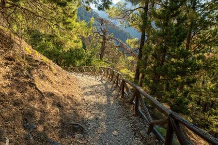 The Samaria Gorge on the Greek island of Crete 版權商用圖片