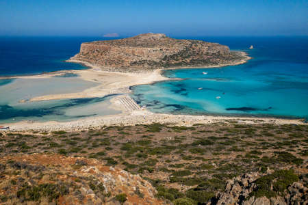 Balos Beach on the Greek island of Crete 版權商用圖片