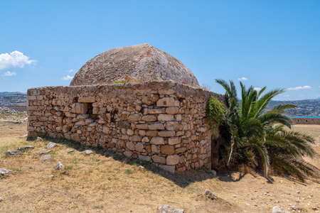 The Fortezza fortress in Rethymno on the Greek 版權商用圖片