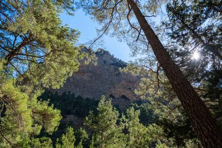 The Samaria Gorge on the Greek island