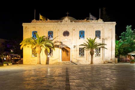 The church of Agios Titos in Heraklion on the island of Crete in Greece 版權商用圖片