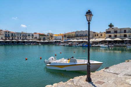 The Venetian port of Rethymno on the Greek island of Crete