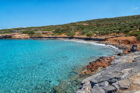 Kolokitha Beach on the Greek island of Crete 版權商用圖片