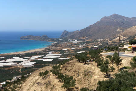 View over Falasarna on the Greek island of Crete