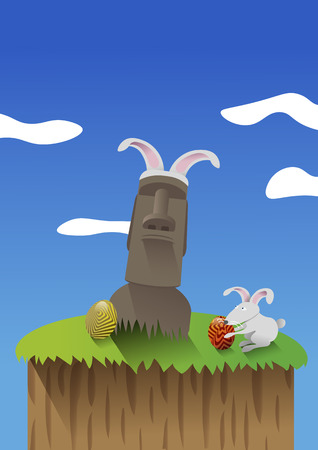 easter island: Celebrating Easter in Easter Island