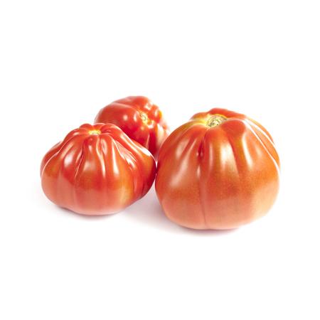 Oxheart tomatoes isolated on white background Stock Photo