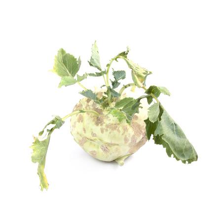 Kohlrabi isolated on white background Stock Photo