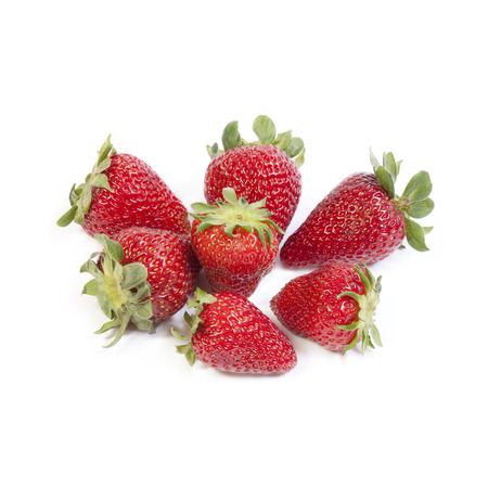 growers: Strawberries isolated on white background