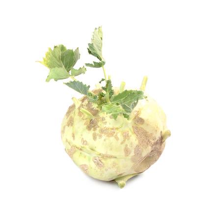 fruit trade: Kohlrabi isolated on white background Stock Photo