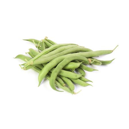 growers: Green beans isolated on white background Stock Photo