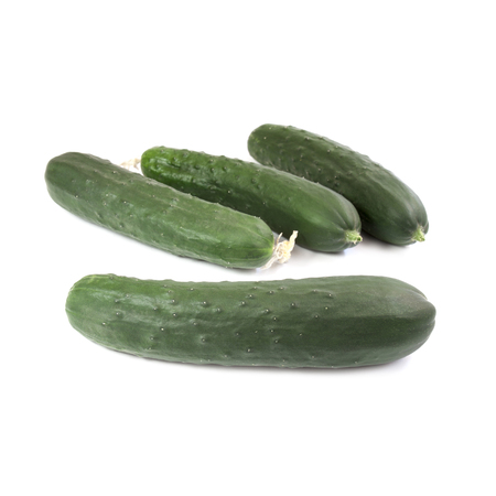 growers: Cucumbers isolated on white background Stock Photo