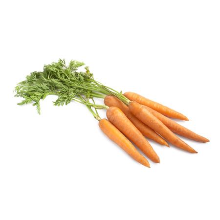 growers: Carrots isolated on white background