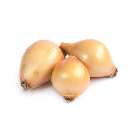 nearness: Onions isolated on white background Stock Photo